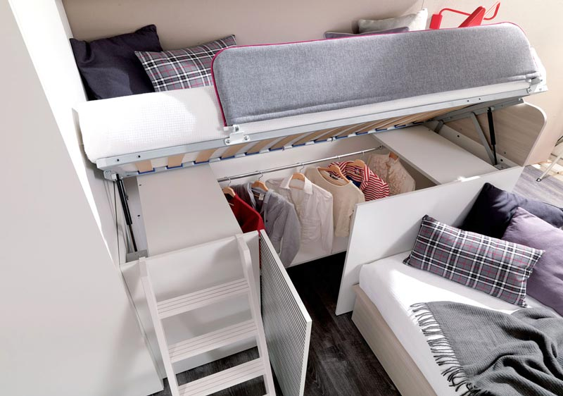 Containerbed Biedt Handige Opbergruimte Voor Je Kleding