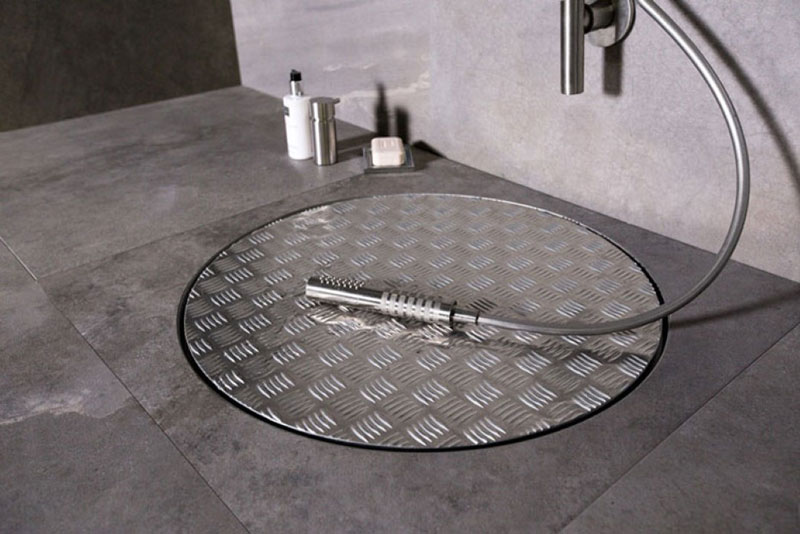 afvoer douche onderdelen: vidaxl douche afvoer met flexibele slang, Badkamer
