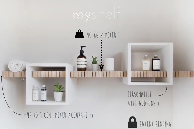 Wandplank 1 Meter.Myshelf By Anouk Innovatief Be