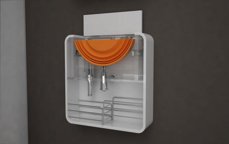 Mini badkamer deze wastafel past innovatief be