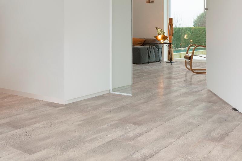Interieur Combineren Kurk : Betonvloer in combinatie met onderlaag in kurk innovatief.be
