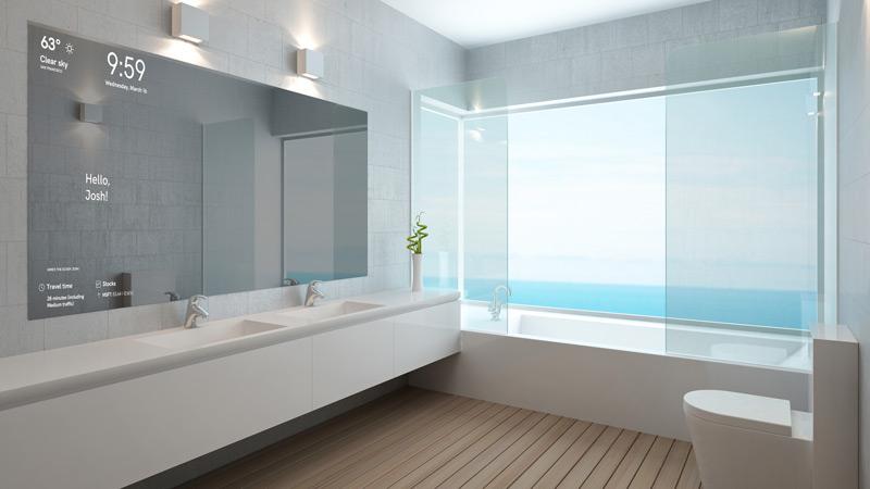 het spiegelontwerp staat momenteel nog in de kinderschoenen maar zou in de toekomst weleens met glans kunnen slagen in elke badkamer letterlijk